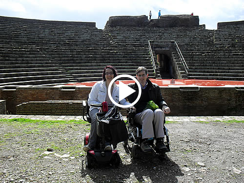 Ancient Ostia Wheelchair Rome Accessible Tours Video