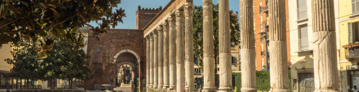 San Lorenzo Columns Wheelchair Milan Accessible Tours